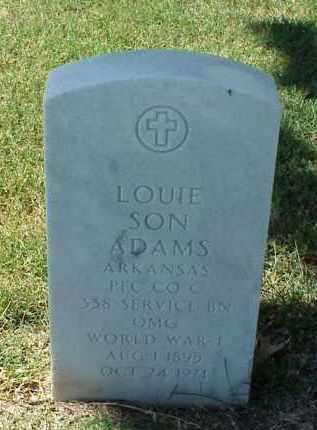 ADAMS (VETERAN WWI), LOUIE SON - Pulaski County, Arkansas | LOUIE SON ADAMS (VETERAN WWI) - Arkansas Gravestone Photos
