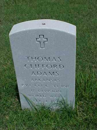 ADAMS (VETERAN WWI), THOMAS CLIFFORD - Pulaski County, Arkansas   THOMAS CLIFFORD ADAMS (VETERAN WWI) - Arkansas Gravestone Photos