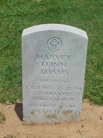 ADAMS (VETERAN WWII), HARVEY FLINN - Pulaski County, Arkansas   HARVEY FLINN ADAMS (VETERAN WWII) - Arkansas Gravestone Photos