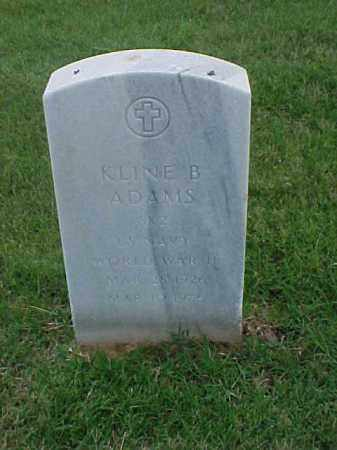 ADAMS (VETERAN WWII), KLINE B - Pulaski County, Arkansas   KLINE B ADAMS (VETERAN WWII) - Arkansas Gravestone Photos