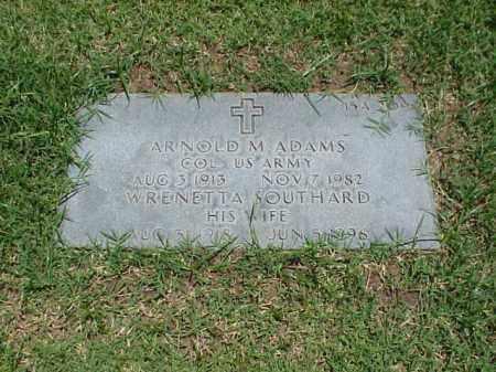 SOUTHARD ADAMS, WRENETTA - Pulaski County, Arkansas | WRENETTA SOUTHARD ADAMS - Arkansas Gravestone Photos