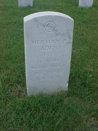 ADEN (VETERAN WWII), HERMAN P - Pulaski County, Arkansas   HERMAN P ADEN (VETERAN WWII) - Arkansas Gravestone Photos