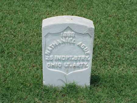 AGUE (VETERAN UNION), NATHANIEL - Pulaski County, Arkansas   NATHANIEL AGUE (VETERAN UNION) - Arkansas Gravestone Photos