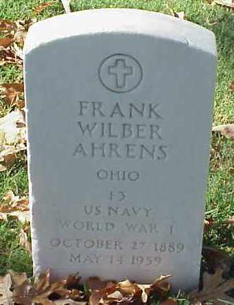AHRENS (VETERAN WWI), FRANK WILBER - Pulaski County, Arkansas   FRANK WILBER AHRENS (VETERAN WWI) - Arkansas Gravestone Photos