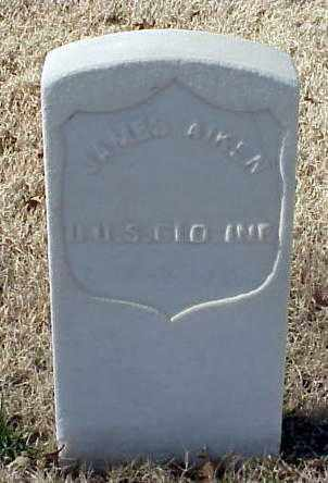 AIKEN (VETERAN UNION), JAMES - Pulaski County, Arkansas | JAMES AIKEN (VETERAN UNION) - Arkansas Gravestone Photos