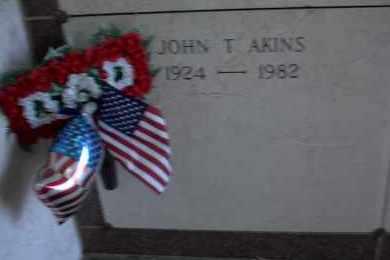 "AKINS, SR.  (VETERAN 2WARS), JOHN THOMAS ""JACK"" - Pulaski County, Arkansas   JOHN THOMAS ""JACK"" AKINS, SR.  (VETERAN 2WARS) - Arkansas Gravestone Photos"