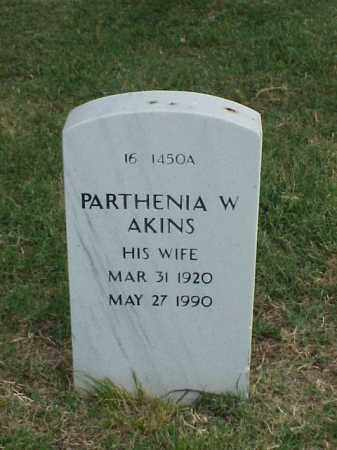 AKINS, PARTHENIA W - Pulaski County, Arkansas | PARTHENIA W AKINS - Arkansas Gravestone Photos