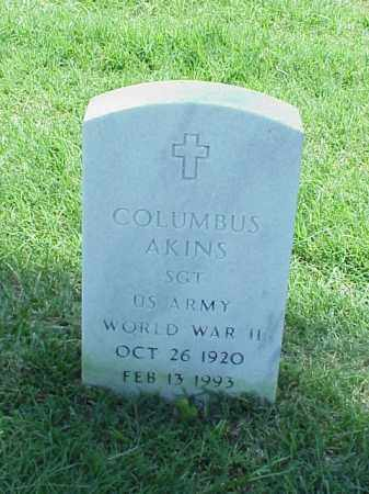 AKINS (VETERAN WWII), COLUMBUS - Pulaski County, Arkansas | COLUMBUS AKINS (VETERAN WWII) - Arkansas Gravestone Photos