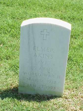 AKINS (VETERAN WWII), ELMER - Pulaski County, Arkansas   ELMER AKINS (VETERAN WWII) - Arkansas Gravestone Photos