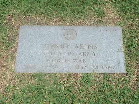 AKINS (VETERAN WWII), HENRY - Pulaski County, Arkansas   HENRY AKINS (VETERAN WWII) - Arkansas Gravestone Photos