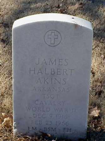 AKINS (VETERAN WWII), JAMES HALBERT - Pulaski County, Arkansas | JAMES HALBERT AKINS (VETERAN WWII) - Arkansas Gravestone Photos
