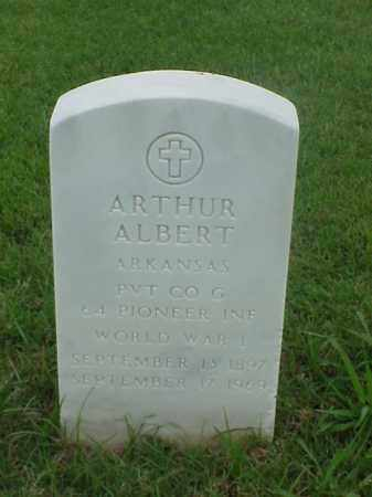 ALBERT (VETERAN WWI), ARTHUR - Pulaski County, Arkansas | ARTHUR ALBERT (VETERAN WWI) - Arkansas Gravestone Photos