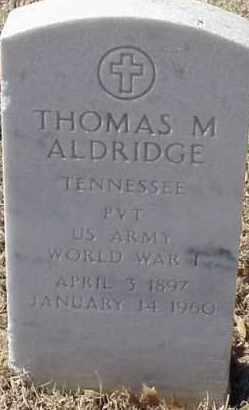 ALDRIDGE  (VETERAN WWI), THOMAS M - Pulaski County, Arkansas | THOMAS M ALDRIDGE  (VETERAN WWI) - Arkansas Gravestone Photos