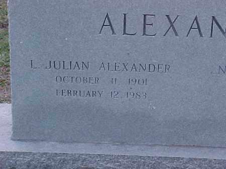 ALEXANDER, L JULIAN(2) - Pulaski County, Arkansas   L JULIAN(2) ALEXANDER - Arkansas Gravestone Photos