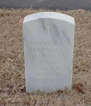 ALEXANDER  (VETERAN WWII), THEODORE R - Pulaski County, Arkansas | THEODORE R ALEXANDER  (VETERAN WWII) - Arkansas Gravestone Photos