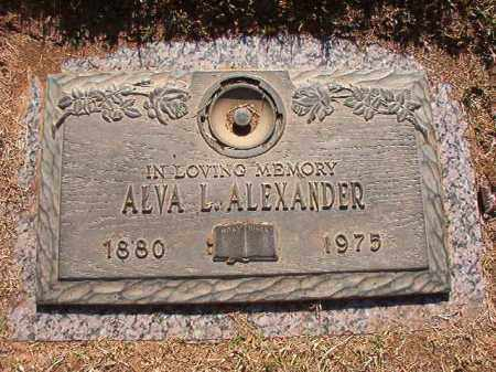 ALEXANDER, ALVA L - Pulaski County, Arkansas | ALVA L ALEXANDER - Arkansas Gravestone Photos