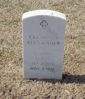 ALEXANDER (VETERAN KOR), CLEOPHUS - Pulaski County, Arkansas   CLEOPHUS ALEXANDER (VETERAN KOR) - Arkansas Gravestone Photos