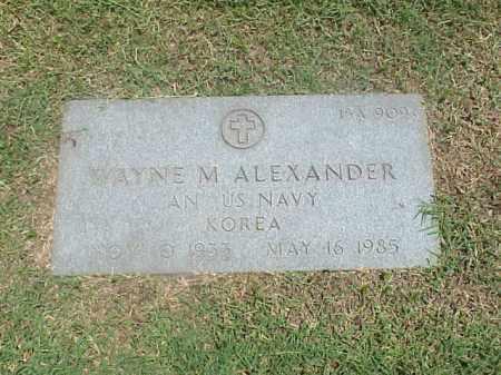 ALEXANDER (VETERAN KOR), WAYNE M - Pulaski County, Arkansas | WAYNE M ALEXANDER (VETERAN KOR) - Arkansas Gravestone Photos