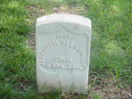 ALEXANDER (VETERAN UNION), JERMIAH - Pulaski County, Arkansas | JERMIAH ALEXANDER (VETERAN UNION) - Arkansas Gravestone Photos
