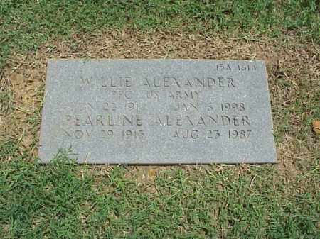 ALEXANDER, PEARLINE - Pulaski County, Arkansas | PEARLINE ALEXANDER - Arkansas Gravestone Photos