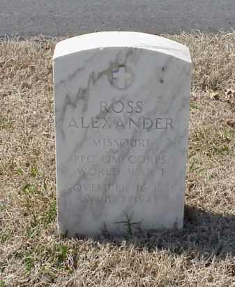 ALEXANDER (VETERAN WWI), ROSS - Pulaski County, Arkansas   ROSS ALEXANDER (VETERAN WWI) - Arkansas Gravestone Photos