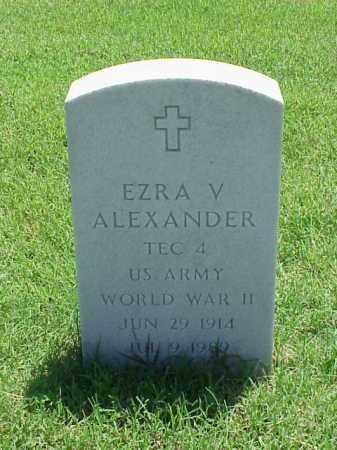 ALEXANDER (VETERAN WWII), EZRA V - Pulaski County, Arkansas | EZRA V ALEXANDER (VETERAN WWII) - Arkansas Gravestone Photos