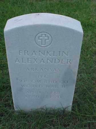 ALEXANDER (VETERAN WWII), FRANKLIN - Pulaski County, Arkansas | FRANKLIN ALEXANDER (VETERAN WWII) - Arkansas Gravestone Photos