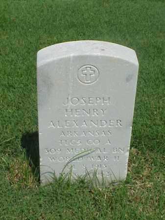 ALEXANDER (VETERAN WWII), JOSEPH HENRY - Pulaski County, Arkansas | JOSEPH HENRY ALEXANDER (VETERAN WWII) - Arkansas Gravestone Photos
