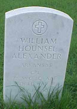 ALEXANDER (VETERAN WWII), WILLIAM HOUNSEL - Pulaski County, Arkansas | WILLIAM HOUNSEL ALEXANDER (VETERAN WWII) - Arkansas Gravestone Photos