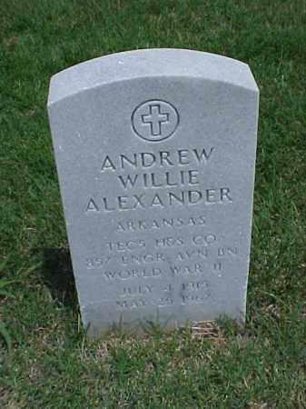 ALEXANDER (VETERAN WWII), ANDREW WILLIE - Pulaski County, Arkansas   ANDREW WILLIE ALEXANDER (VETERAN WWII) - Arkansas Gravestone Photos