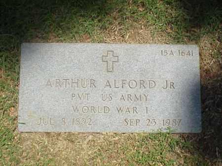 ALFORD, JR (VETERAN WWI), ARTHUR - Pulaski County, Arkansas   ARTHUR ALFORD, JR (VETERAN WWI) - Arkansas Gravestone Photos