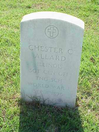ALLARD (VETERAN WWI), CHESTER C - Pulaski County, Arkansas | CHESTER C ALLARD (VETERAN WWI) - Arkansas Gravestone Photos
