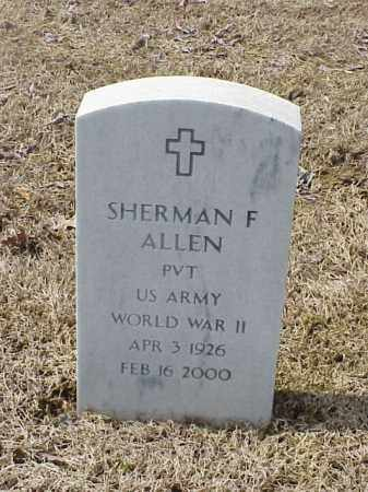 ALLEN  (VETERAN WWII), SHERMAN F - Pulaski County, Arkansas | SHERMAN F ALLEN  (VETERAN WWII) - Arkansas Gravestone Photos