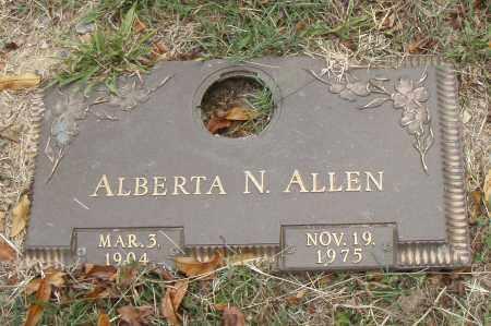 ALLEN, ALBERTA N. - Pulaski County, Arkansas | ALBERTA N. ALLEN - Arkansas Gravestone Photos