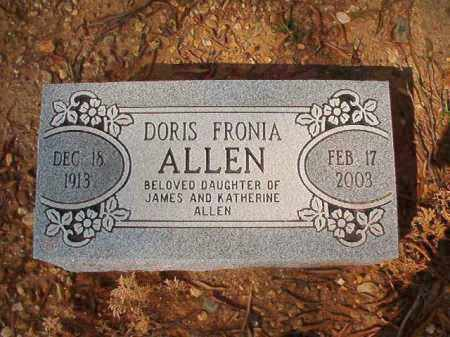 ALLEN, DORIS FRONIA - Pulaski County, Arkansas | DORIS FRONIA ALLEN - Arkansas Gravestone Photos