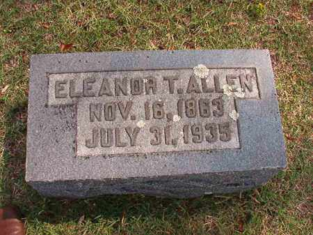 ALLEN, ELEANOR T - Pulaski County, Arkansas   ELEANOR T ALLEN - Arkansas Gravestone Photos