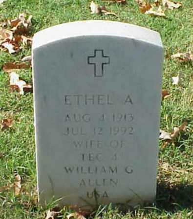 ALLEN, ETHEL A - Pulaski County, Arkansas | ETHEL A ALLEN - Arkansas Gravestone Photos