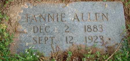 ALLEN, FANNIE - Pulaski County, Arkansas   FANNIE ALLEN - Arkansas Gravestone Photos