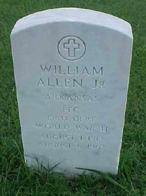 ALLEN, JR (VETERAN WWII), WILLIAM - Pulaski County, Arkansas   WILLIAM ALLEN, JR (VETERAN WWII) - Arkansas Gravestone Photos