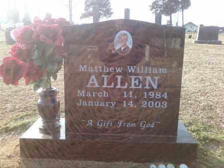 ALLEN, MATTHEW WILLIAM - Pulaski County, Arkansas | MATTHEW WILLIAM ALLEN - Arkansas Gravestone Photos