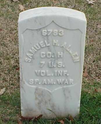 ALLEN (VETERAN SAW), SAMUEL H - Pulaski County, Arkansas | SAMUEL H ALLEN (VETERAN SAW) - Arkansas Gravestone Photos