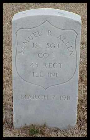 ALLEN (VETERAN UNION), SAMUEL R - Pulaski County, Arkansas | SAMUEL R ALLEN (VETERAN UNION) - Arkansas Gravestone Photos