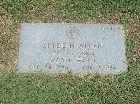 ALLEN (VETERAN WWI), CLYDE H - Pulaski County, Arkansas | CLYDE H ALLEN (VETERAN WWI) - Arkansas Gravestone Photos