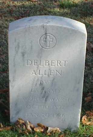 ALLEN (VETERAN WWI), DELBERT - Pulaski County, Arkansas | DELBERT ALLEN (VETERAN WWI) - Arkansas Gravestone Photos