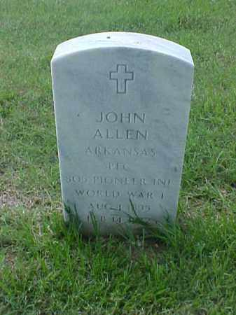 ALLEN (VETERAN WWI), JOHN - Pulaski County, Arkansas | JOHN ALLEN (VETERAN WWI) - Arkansas Gravestone Photos