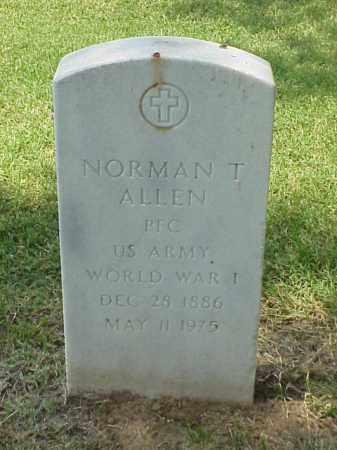 ALLEN (VETERAN WWI), NORMAN T - Pulaski County, Arkansas   NORMAN T ALLEN (VETERAN WWI) - Arkansas Gravestone Photos