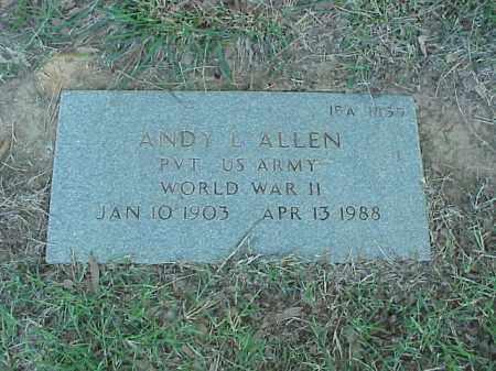 ALLEN (VETERAN WWII), ANDY L - Pulaski County, Arkansas | ANDY L ALLEN (VETERAN WWII) - Arkansas Gravestone Photos