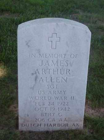 ALLEN (VETERAN WWII), JAMES ARTHUR - Pulaski County, Arkansas   JAMES ARTHUR ALLEN (VETERAN WWII) - Arkansas Gravestone Photos
