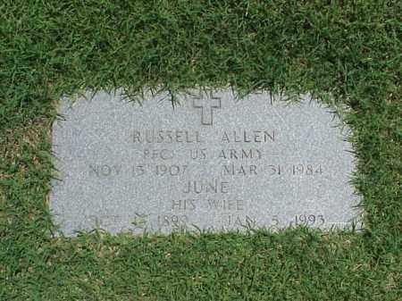 ALLEN (VETERAN WWII), RUSSELL - Pulaski County, Arkansas | RUSSELL ALLEN (VETERAN WWII) - Arkansas Gravestone Photos