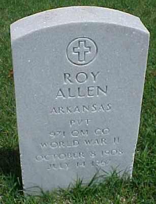 ALLEN (VETERAN WWII), ROY - Pulaski County, Arkansas   ROY ALLEN (VETERAN WWII) - Arkansas Gravestone Photos